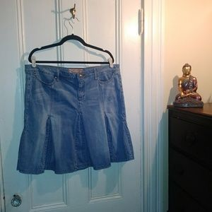 Candies denim skirt XL butterfly
